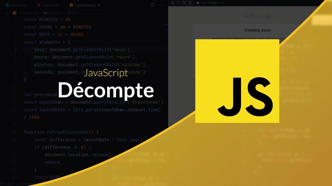 Tutoriel JavaScript : Décompte Javascript