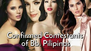 CONFIRMED Candidates of Bb. Pilipinas 2019