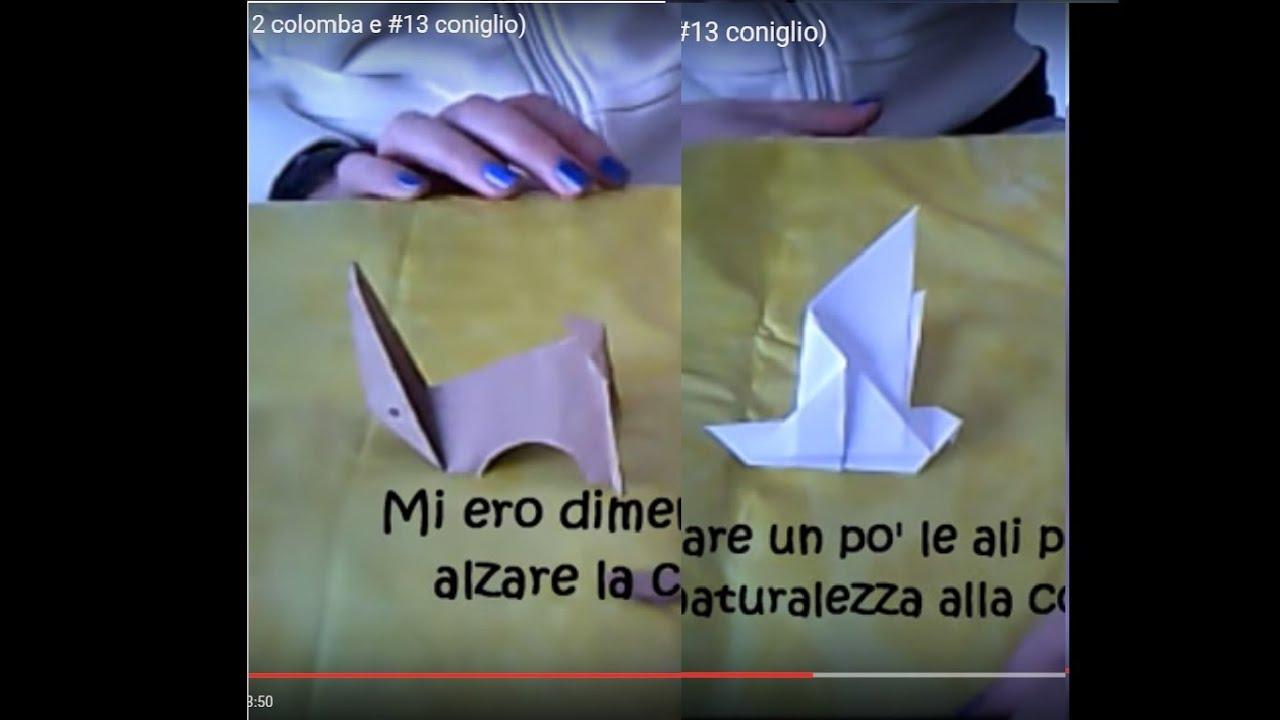 origami di pasqua ( 12 colomba e  13 coniglio) - YouTube 8c8a6ca26526