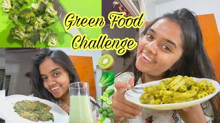 I Ate Only Green Food for 24 Hours | thebrowndaughter