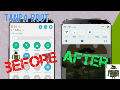 Tanpa ROOT!! Mengubah Tampilan/Tema Statusbar dan Notification Panel Ala Nougat/Marshmallow/Lollipop