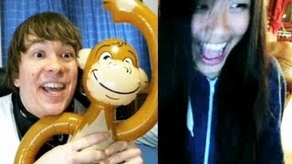 Showing my Monkey on Omegle!
