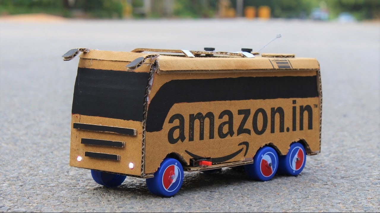 How To Make a Cardboard Bus - YouTube