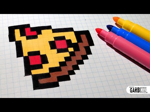 Handmade Pixel Art How To Draw Easy Pizza Pixelart Youtube