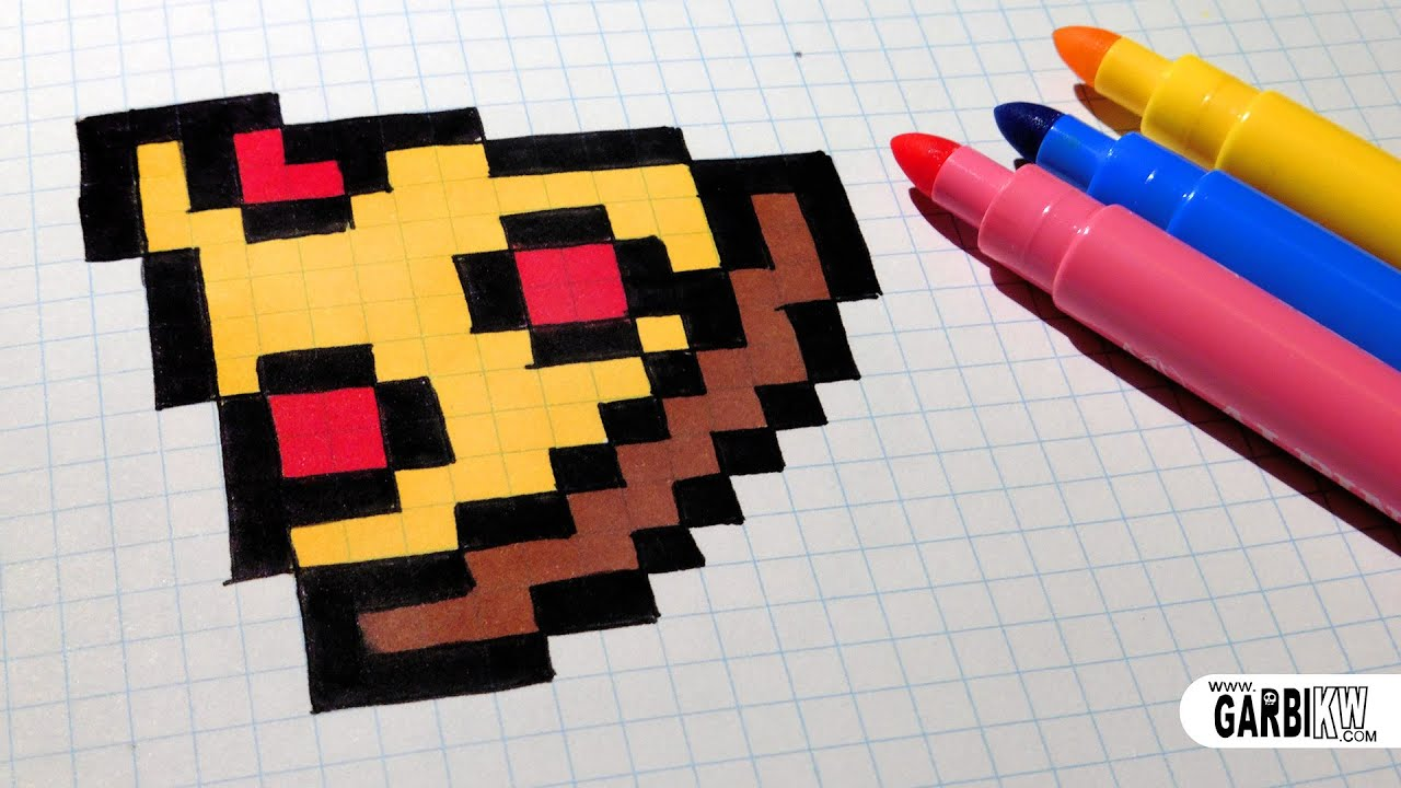 Connu Handmade Pixel Art - How To Draw Easy Pizza #pixelart - YouTube ZX04
