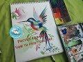 Поделки - Рисуем колибри за 15 минут/ How to paint a bird
