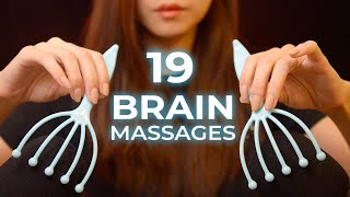 ASMR 19 Brain Melting Massage Triggers (No Talking)