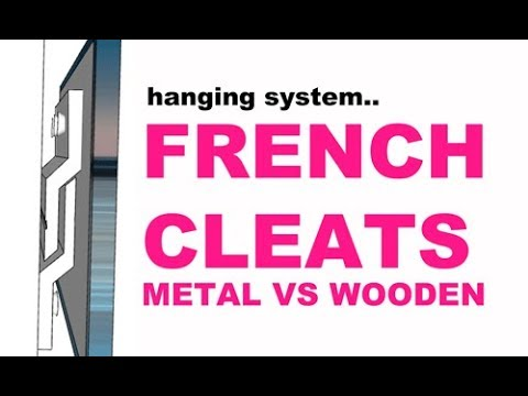 French Cleats: Wall Display Hanging System - Metal vs Wooden