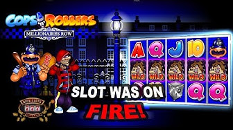 Insane Run on Cops n Robbers Millionaires Row Slot - BIG WINS!