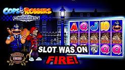 Insane Run on Cops n Robbers Millionaires Row Slot - BIG WINS!