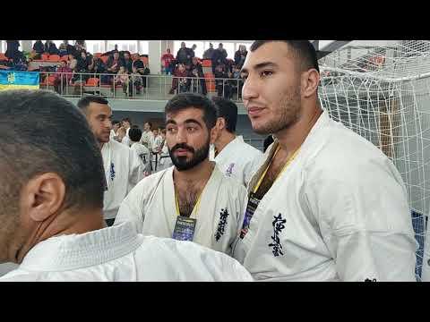 Azerbaycan Yiqmasi.Ukraina ,Kiyev 2018 Open Oyamo Kyokushin Karate Cempionat .Azerbaycan Yiqmasi.