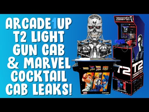 Arcade1Up Terminator 2 Light Gun & Marvel Cocktail Cabinet Leaks! from PDubs Arcade Loft