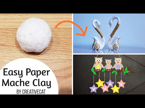 Best Paper Mache Clay/ Best paper clay recipe/Best out of waste/art and craft
