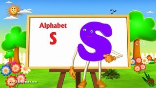 Letter S Song - 3D Animation Learning English Alphabet ABC Songs For children thumbnail