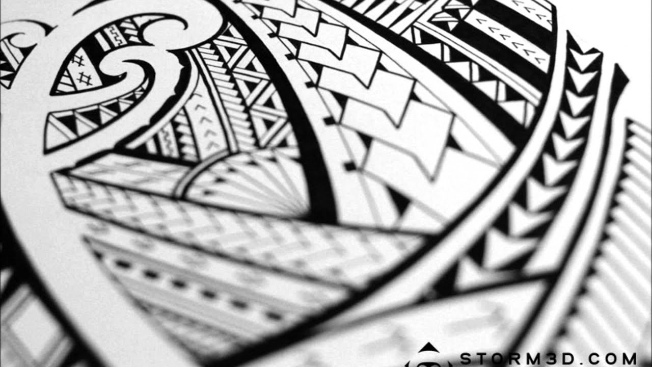 c0ca74d73b5b0 Drawing a Samoan tribal tattoo design (time-lapse) - YouTube