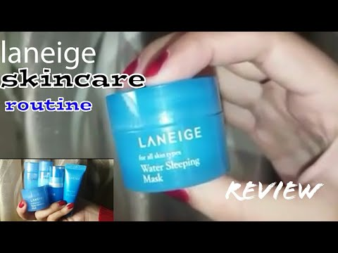"LANEIGE Trial kit (4 item ) dan Water sleeping mask review dari ""Korea"" #liya"
