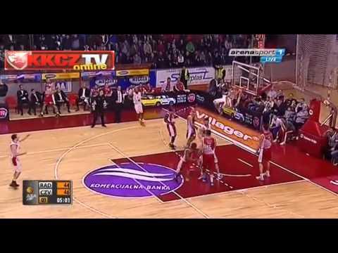Radnički Kragujevac : Crvena zvezda Telekom 73:78   Ceo meč [ABA League 16. kolo   11.1.2014]