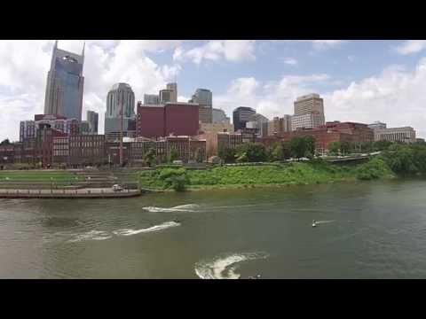 Drone Nashville - Downtown Jet Ski Fun Riverfront