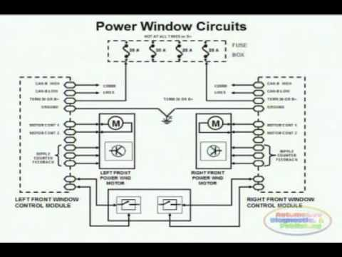 hqdefault power window wiring diagram 1 youtube 2002 Mazda MPV Wiring-Diagram at edmiracle.co