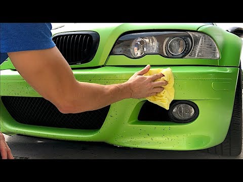 Remove Bugs, Tree Sap, Bird Poop and Other Stains from Plasti Dip