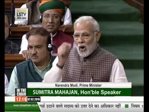 PM replying to debate on motion of thanks to President address in Lok Sabha