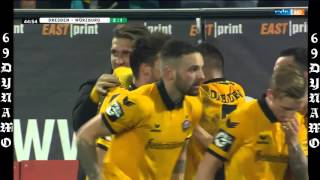 DYNAMO DRESDEN - WÜRZBURGER KICKERS 2:1 ( Alle Tore /Highlights 17/12/2015 )