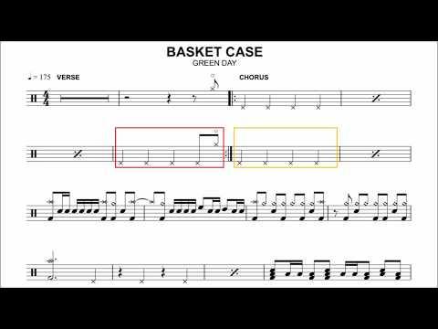 Green Day - Basket Case (Drum Part)