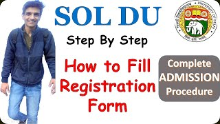 SOL(DU) Admission Process 2020| How to fill SOL-DU Online Admission Form|Admission Complete Process