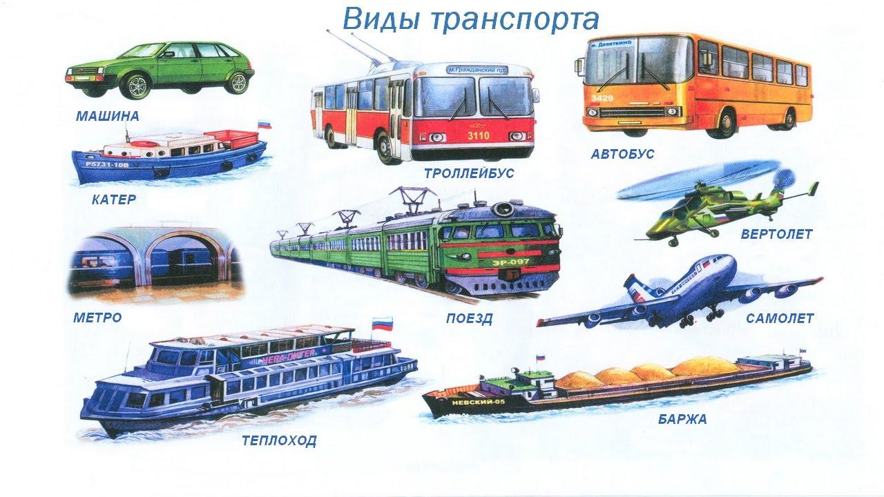 Виды Транспорта Картинки Для Детей