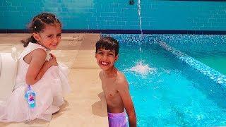 لولو ونواف خربوها وسبحوا بملابس العيد!!