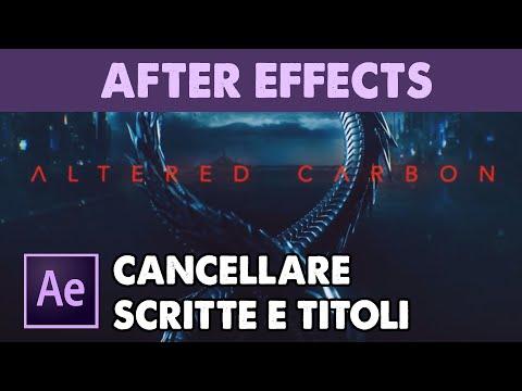 Cancellare titoli da un sigla di una serie tv in After Effects (Tutorial ITA)