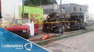 Suman 27 peregrinos muertos por accidente en Mazapil, Zacatecas