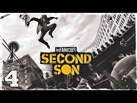 Смотреть прохождение игры [PS4] InFamous: Second Son. # 4: Развлекаемся и смотрим на открытый мир.