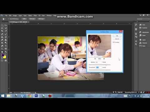 การทำภาพเบลอในตำแหน่งที่ต้องการด้วยโปรแกรม Photoshop Cs6