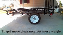 My 5 x 8 Carry On Lowes Trailer Axle Flip