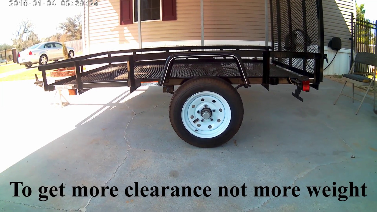 My 5 X 8 Carry On Lowes Trailer Axle Flip Youtube
