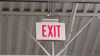 Exit Sign at Walmart