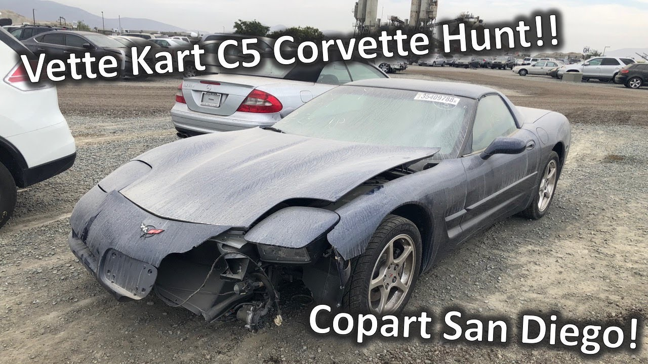 Inspecting A C5 Corvette At Copart For The Vette Kart Build Streetlegalgokart