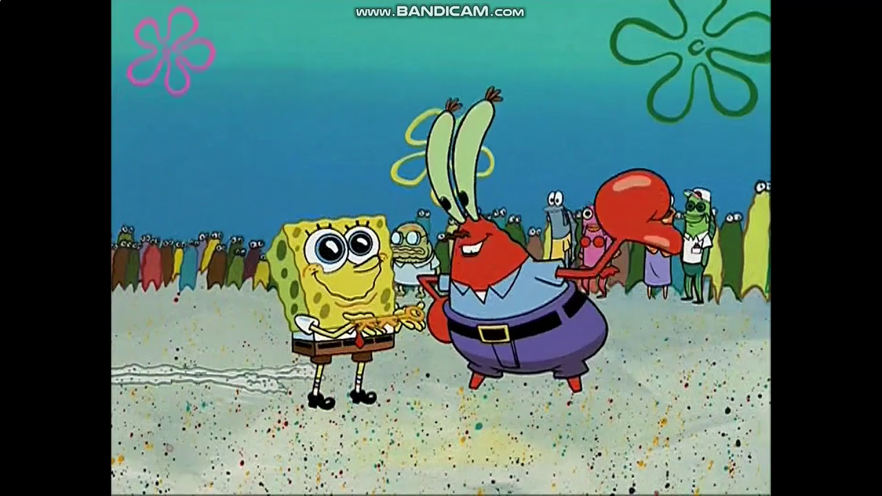 Spongebob i cant feel my legs mr krabs