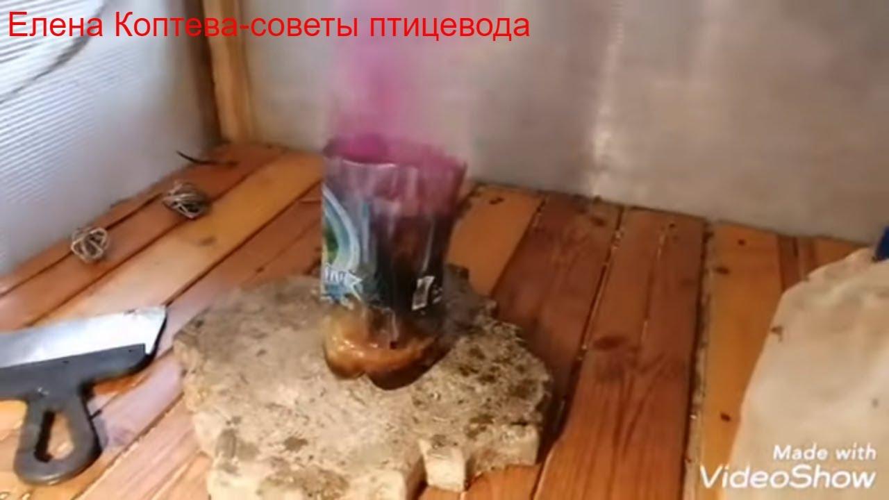 известь для обработки курятника