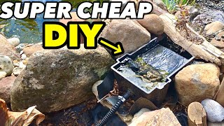SUPER CHEAP DIY POND FILTER THAT WORKS!