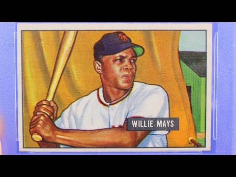 1951 Bowman Willie Mays psa 7 Baseball Cards ROOKIE 1952 Topps Willie Mays psa 7 centered