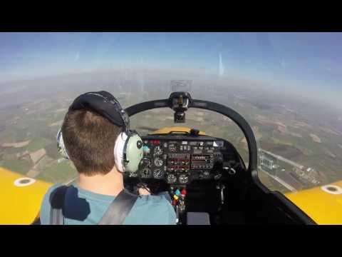 Aerobatics flight in the Slingsby Firefly