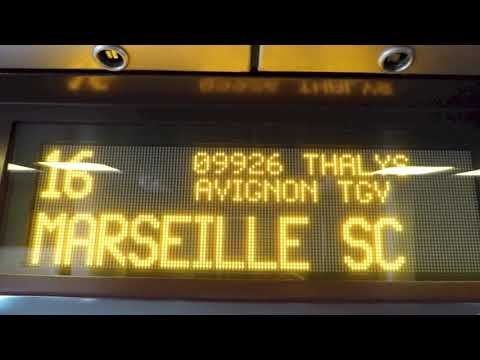 High Speed Train From Amsterdam To Marseille, France 2016