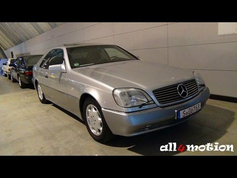 mercedes-benz cl600 v12 w140/c140 @ retro classics 2016 - youtube
