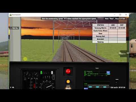 Simulasi laluan KTM komuter TM-Rwg #2