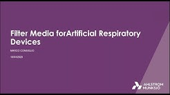 Filter media for artificial respiratory devices - learn about our solutions
