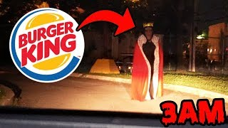 DONT GO TO AN ABANDONED BURGER KING AT 3AM OR BURGER KING.EXE WILL APPEAR! | HAUNTED BURGER KING