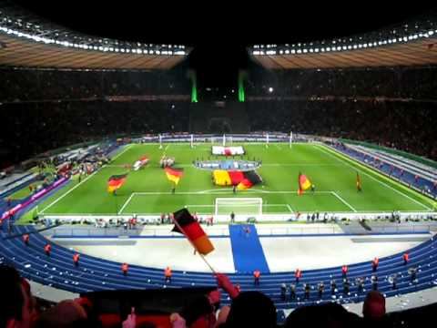 Berlin, Germany - National Anthem in Olympic Stadium (Germany vs. England 2008 Friendly)
