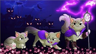 Castle Cats НОВАЯ ИГРА про котиков Коты против ЗОМБИ собак игровой мультик для детей FGGTV